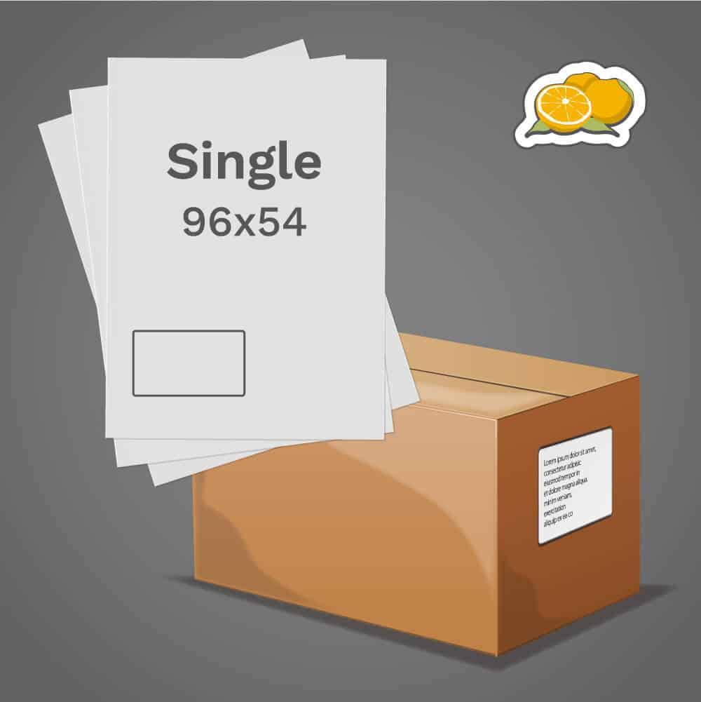 Orange Single Label